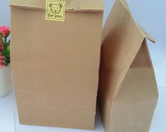 20 Pcs Kraft Paper Bags Wedding Party Favor Treat Candy Buffet Bag/Envelope Gift Wrap