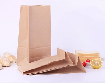 100pcs/lot 3sizes Brown/white Kraft Paper Gift Sandwich Bread Food take out Bags Party Wedding Favour Bag Size: Size 18x9x5cmSize