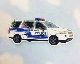 Broken Window Space Portal Cop Car Sticker ACAB