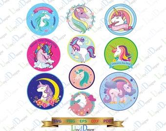 Unicorn SVG unicorn clipart unicorn ornaments Unicorn gift invitation party svg png eps pdf dxf cut files for Print Silhouette Studio Cricut