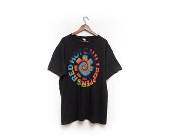 Red Hot Chili Peppers, Tshirt,logo, hippe, tie-die, swirl, Illustration, Flea, Anthony, rhcp, Los Angeles,