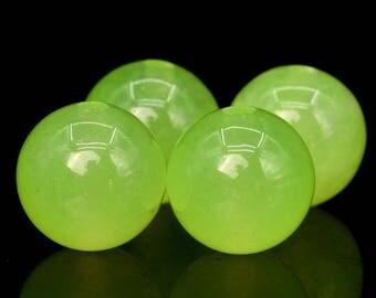 48 / 24 Pcs - 8MM Emerald Green Jade Beads Grade A Round Gemstone Loose Beads (101016-355)