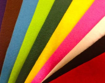 A4 Acrylic Extra Fluffy Felt in Assorted Colours — Pack of 10