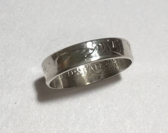 Silver Dime Coin Ring