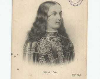 Antique Post Card, Vintage Holy Card, Catholic Collectible, St. Joan of Arc, France