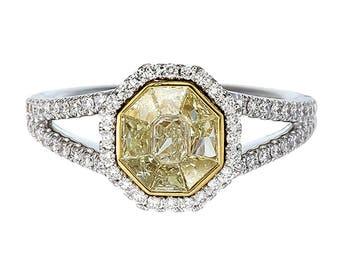 novayellow diamond ringfancy yellow ringwedding ringanniversary ring - Yellow Diamond Wedding Ring