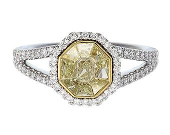 Superieur NOVA/Yellow Diamond Ring/Fancy Yellow Ring/Wedding Ring/Anniversary Ring/