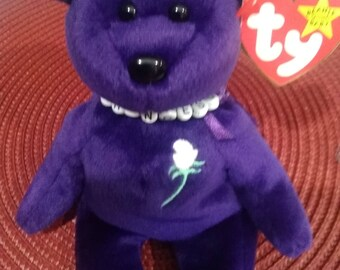 1997 Princess Diana Bear TY Original Necklace Limited Edition Private Collection