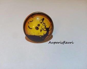 bronze Adjustable ring * halloween *.