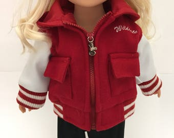 Doll Clothes  Letterman Jacket  Fits American Girl Doll