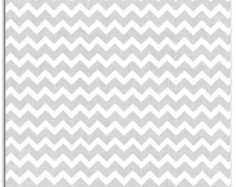 Cotton chevron striped taupe white LKC44 coupon