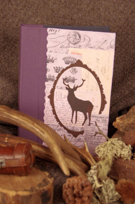 """Cadeau Carnet de chasse  """" le Cerf """""""