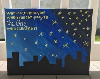 why wish upon a star painting