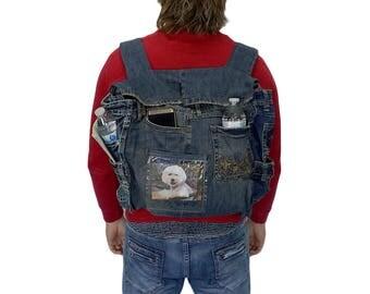 Denim Backpack Acid Wash
