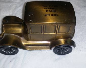 nice antique car advertising bank