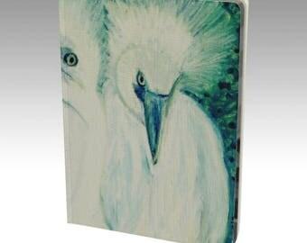 "Unique Artsy Notebook From Orginal PastelArt ""Three Points of View"" Custom Handbound, Velvet"