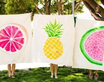 Fruity Picnic Blanket / Beach Blanket / Wall decor