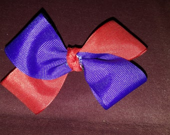 Red and Purple Two-Toned Hair Bow