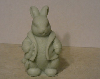 Rabbit in a jacket candle