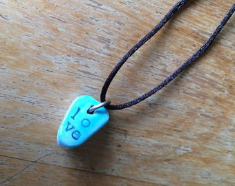 Valentine Love - OOAK Clay Diffuser Pendant for Essential Oils