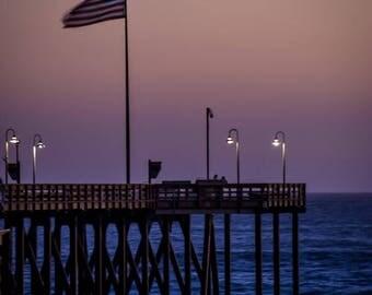 Flag on Ventura Pier, Ventura, CA