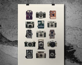 Vintage Camera Print - Retro Print for the Home - Vintage Picture - Home Decor - Cool Vintage Print - Gifts for the Home