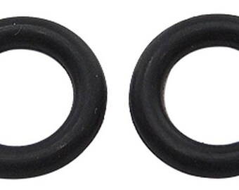 set of 50 6mm black rubber rings