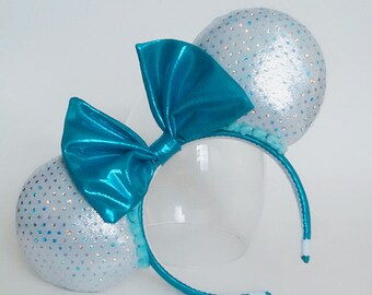 Shiny Ears with a Teal Bow