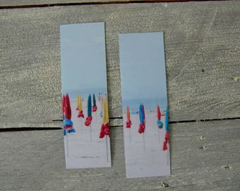 Set of two bookmarks: umbrellas