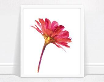 Ruby Daisy Printable - Ruby Wall Art, Ruby Art Print, Ruby Printable Wall Art, Digital Download, Ruby Home Decor, Printable Wall Art Daisy