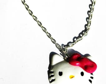 Necklace hello kitty with polymer clay