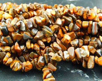 100 beads Tiger eye chips
