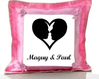 Cushion Pink sweetheart personalized with name