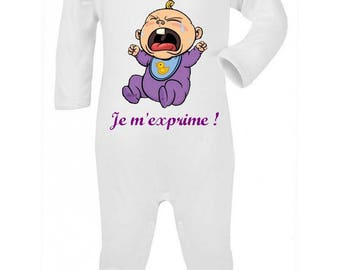 I speak baby Pajamas personalized with name