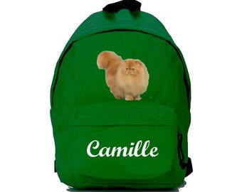 bag has green Persian personalized with name