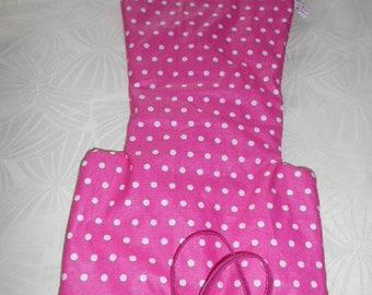-Coated cotton - ANTILOP high chair cushion pink fucshia polka dot