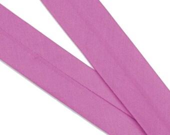 Organic cotton preplie bias · Plain · Pink Wild Orchid. 50 cm