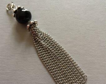 Black chains Perle pendant