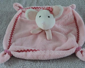 Toy mouse, pink, white and Fuchsia