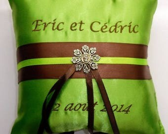 Personalized ring bearer pillow for marriage for all boy