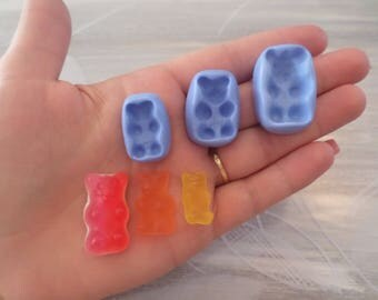 Beautiful mold set of 3 mini, medium and large Teddy bear!