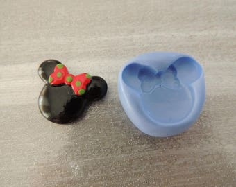Mold for polymer clay head minnie 2.7 cm