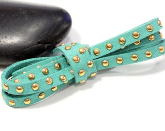 dangles 6mm EMMERAUDE studded suede cord