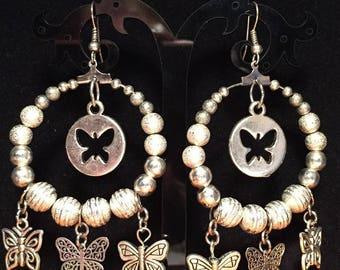 Pierced earrings - butterflies agents