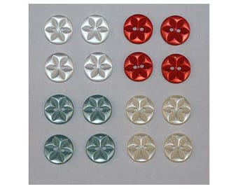 80 x basic buttons 11 mm Star 2 holes set E *-000842