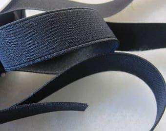 Elastic ribbed black width 25 mm the meter