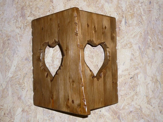 1 applique murale bois coeur d co chalet montagne. Black Bedroom Furniture Sets. Home Design Ideas