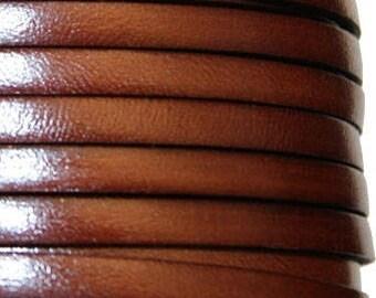 20 cm strap 10 mm Brown leather strap