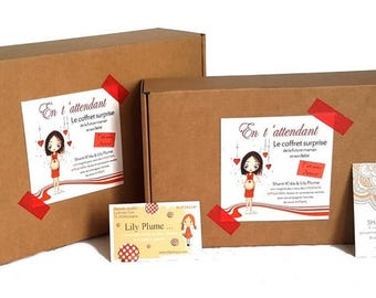 """Gift box expectant mother """"By waiting for you"""""""