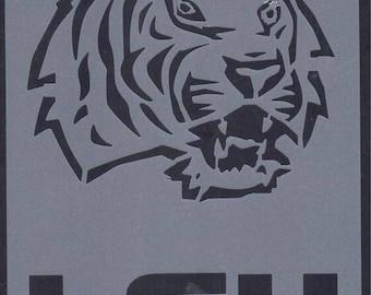 LSU Tiger Stencil